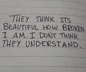 beauty, broken, and quote image