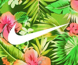 nike, wallpaper, and flowers image