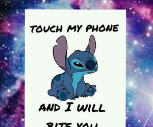 stitch, wallpaper, and don't touch my phone image