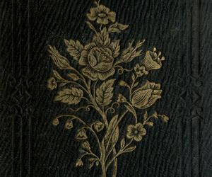 flowers, book, and old image