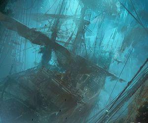 ship, art, and illustration image