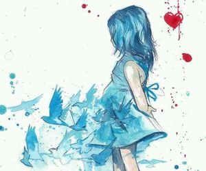 blue, art, and bird image
