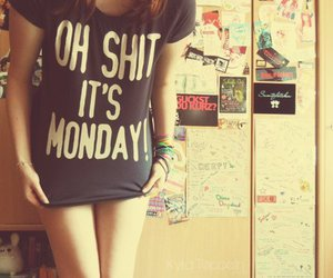 funny, girl, and monday image