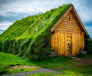house, iceland, and nature image