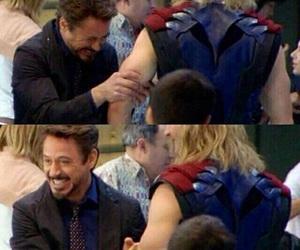 thor, Avengers, and tony stark image