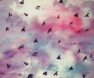 background, birds, and wallpaper image