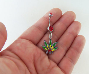 belly button piercing, bob marley, and etsy image