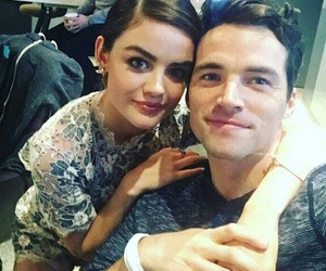 ezra, aria, and in love image