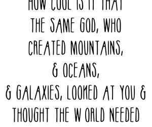god, galaxies, and mountains image