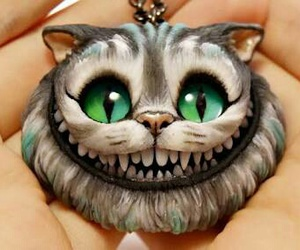alice in wonderland, cat, and clay image