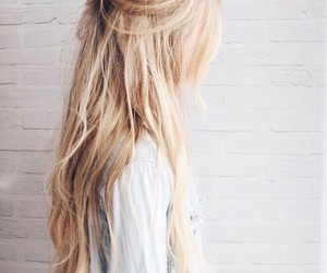 blonde, hairstyles, and waves image