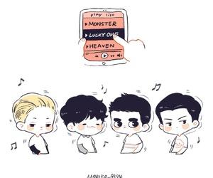 exo, kpop, and fanart kpop image