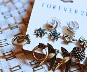 forever 21, earrings, and bird image