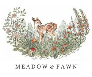 deer, fawn, and meadow image