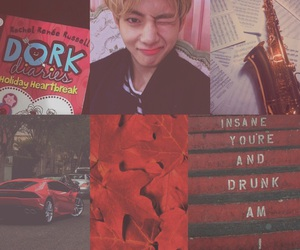 red, bts, and v image