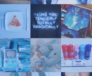 aesthetic, blue, and jungkook image