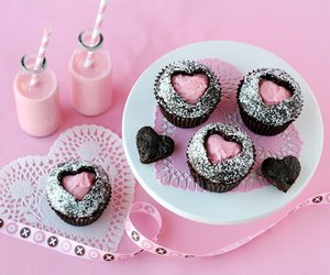 pink, cupcake, and heart image