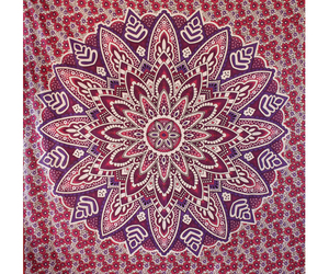 wall tapestry, mandala tapestry, and floral designs tapestry image