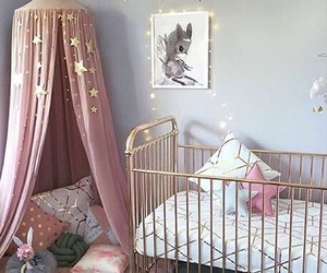 interior, pink, and room image