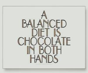 food, chocolate, and quote image
