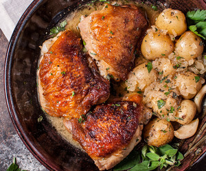 Chicken, potato, and herbs image