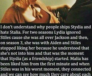 stalia, malia, and stiles image