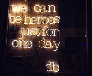 david bowie, heroes, and lights image