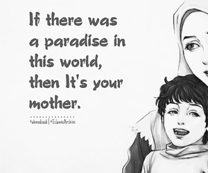 mother, muslim, and quote image