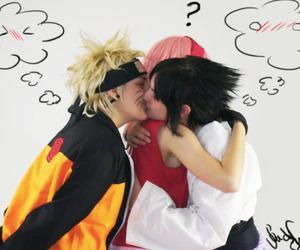kiss, sasuke, and yaoi cosplay image