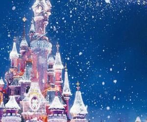 disney, christmas, and snow image