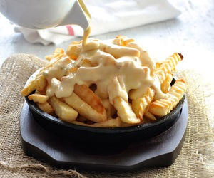 cheese, dip, and crisps image