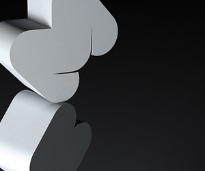 3-d, black and white, and design image