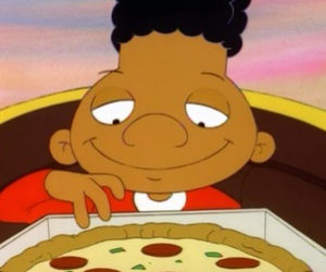 cartoon, pizza, and 90s image