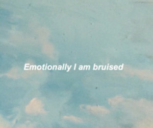 sad, quote, and bruise image