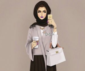 girly_m, hijab, and art image