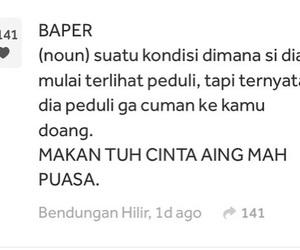 indonesian, galau, and baper image