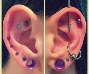 lobe, piercing, and ear image
