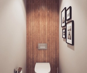 bathroom, brown, and toilet image