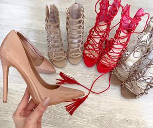 heels, high heel, and Nude image