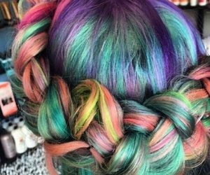 color, hair, and косички image