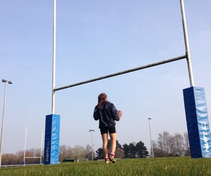 girl, motivation, and rugby image