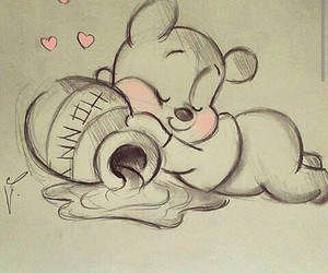 draw, cute, and pooh image