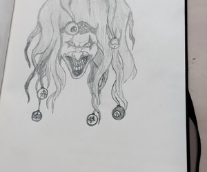 draw, pencil, and scary image