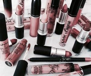 makeup, pink, and gold image