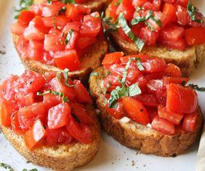 food, bruschetta, and tomato image