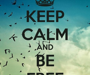 keep calm, free, and freedom image