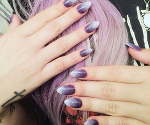 demi lovato, nails, and hair image