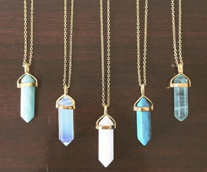necklace, blue, and jewelry image