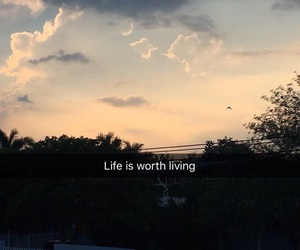 quote, deep, and sky image