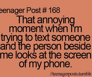 teenager post and text image